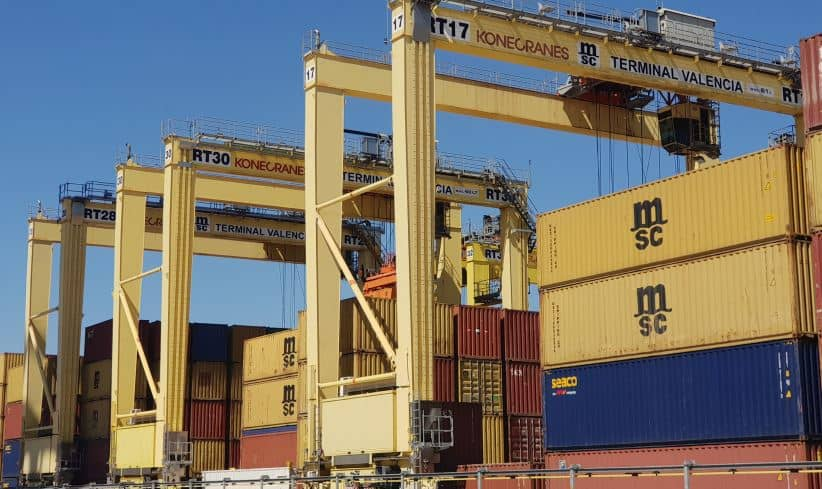Port of Valencia converts existing Konecranes RTGs to fully-electric operation