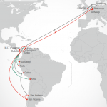 The route will be served by eight post-Panamax ships