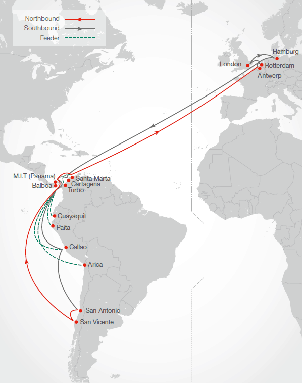 Hamburg Süd adds new Europe-Central America, Caribbean and South America West Coast service