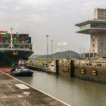 The vessel at the Cocoli locks