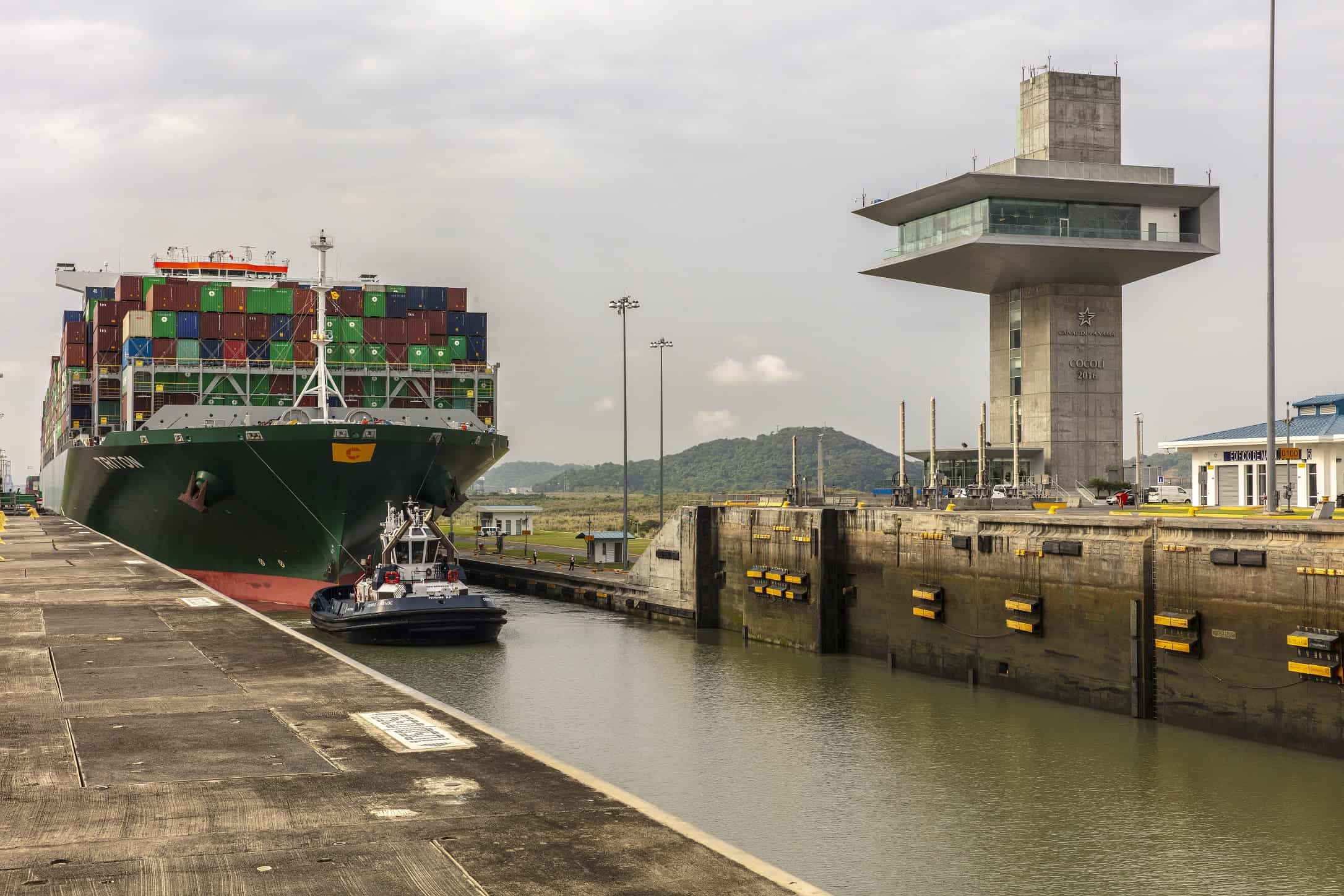 Panama Canal receives largest container ship to date