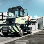 The terminal tractor on display at TOC Europe