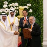 HH Sheikh Mohammed bin Zayed Al Nahyan and Joko Widodo, President of Indonesia witness signing ceremony