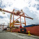 The equipment arriving at ICTSI Manila