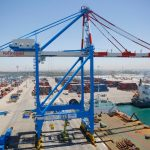 The largest STS crane in Israeli ports