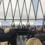 The event took place at the top of London's 'Gherkin' building