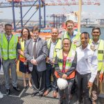 Representatives of Transnet National Ports Authority (TNPA) and Transnet Ports Terminals (TPT) welcomed the ship