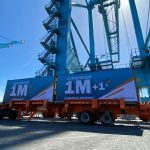 The terminal achieved 1m teu in 10 months of operation