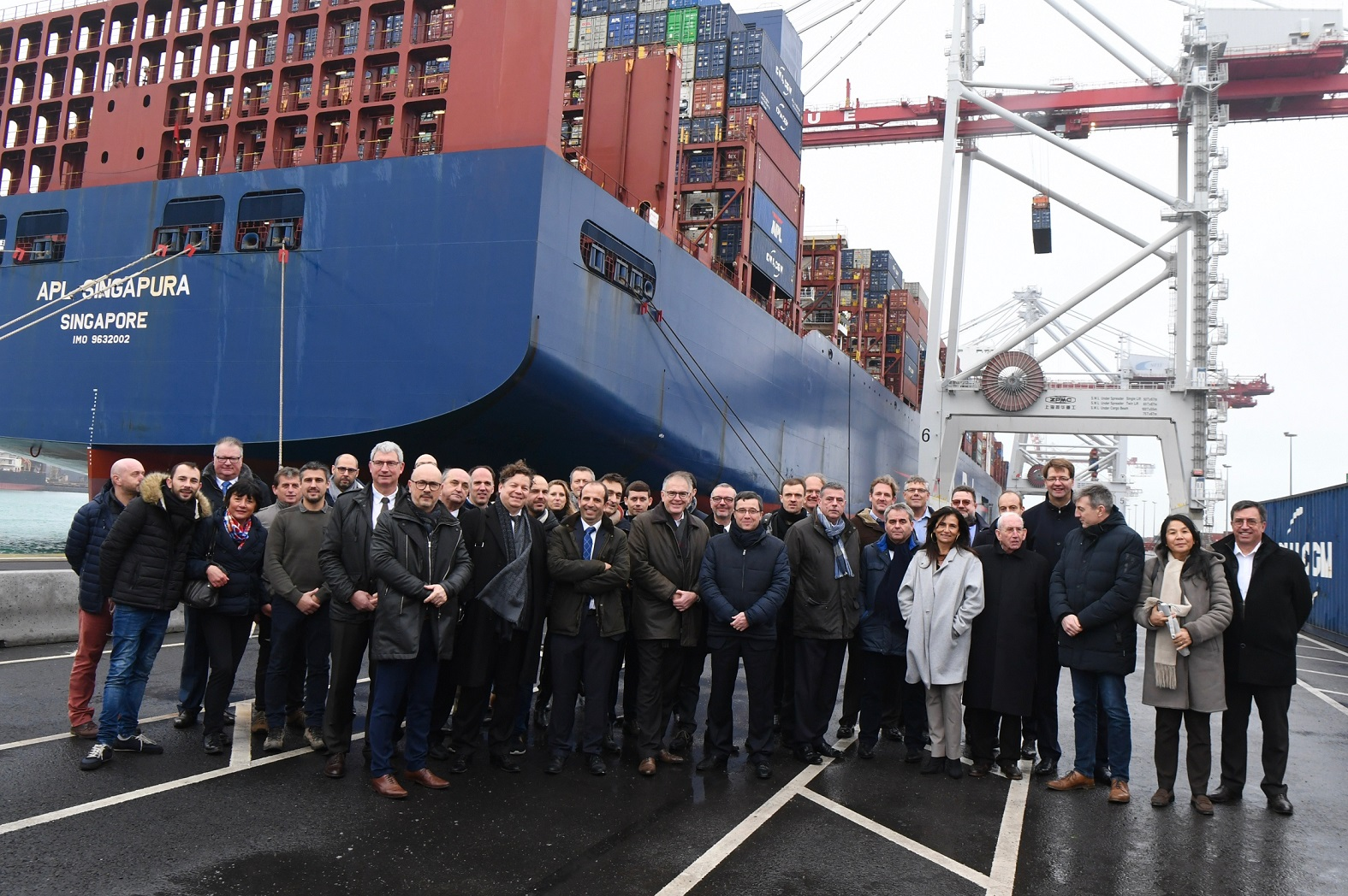 CMA CGM and Port of Dunkirk inaugurate cold ironing system for shore power