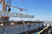 Final beam installed at new Long Beach bridge