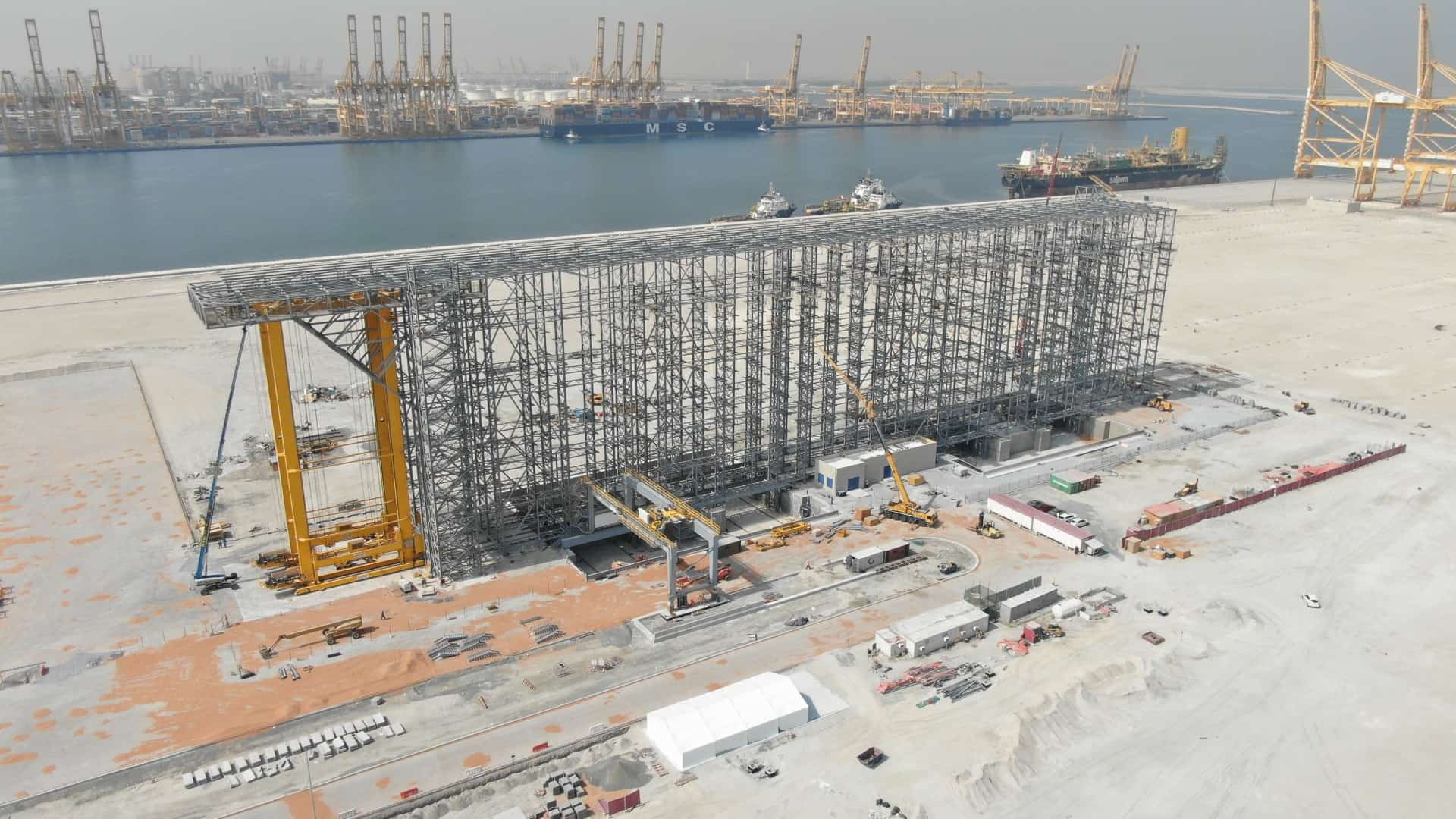 Assembly of BoxBay high bay storage system completed at Jebel Ali