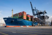 Hong Kong receives world's largest container vessel