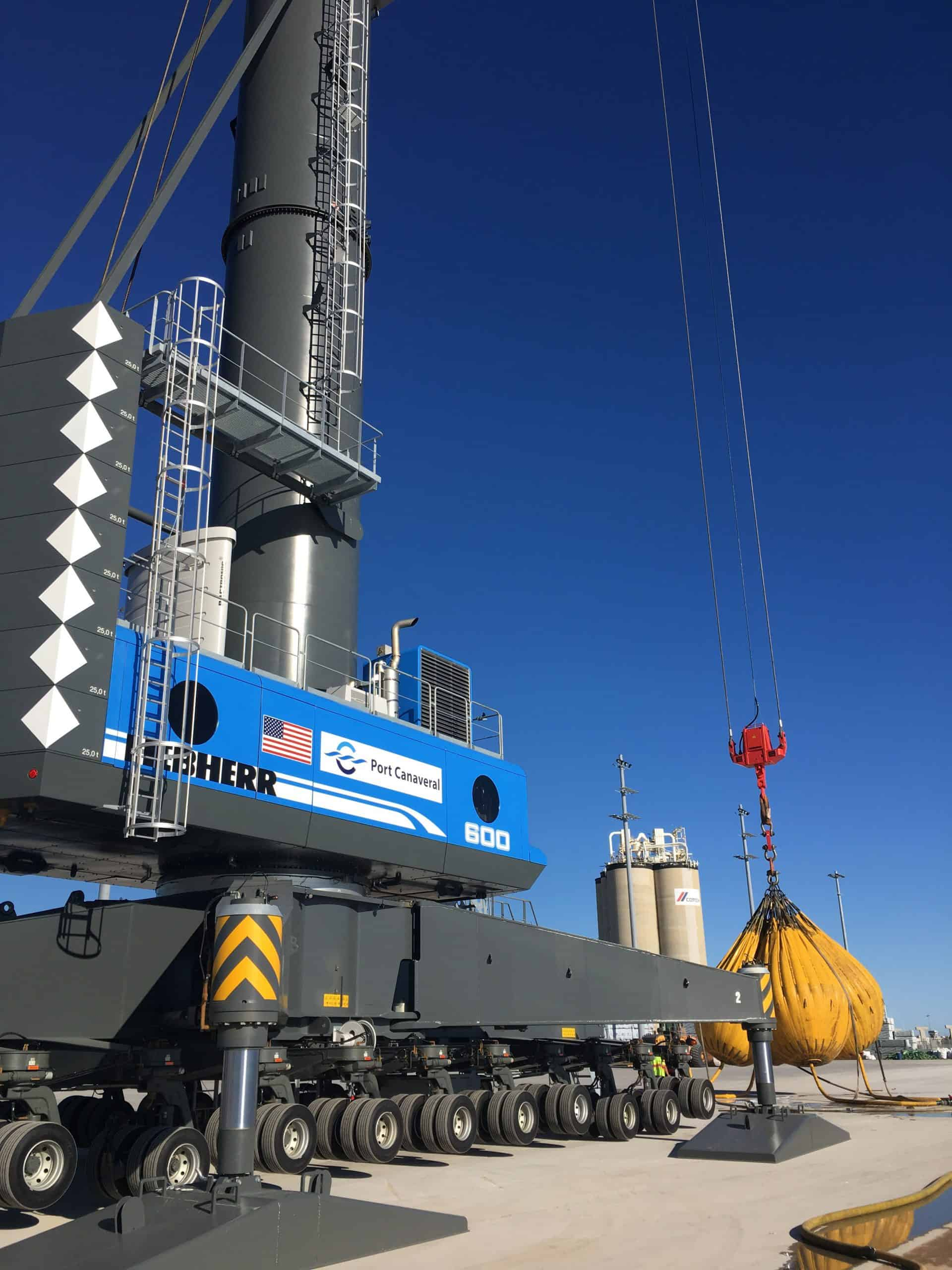 Port Canaveral opts for Liebherr mobile harbour crane