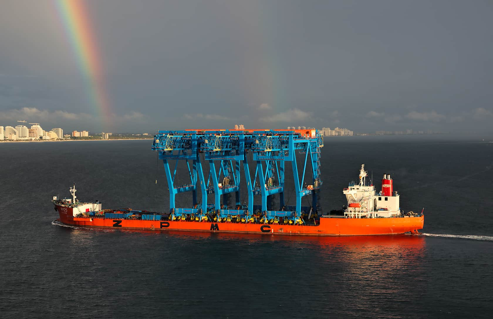 Port Everglades receives three of the world's largest low-profile STS cranes