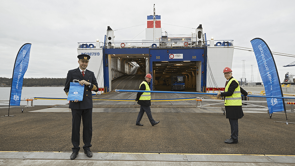 Ro-ro terminal opens at Sweden's newest port