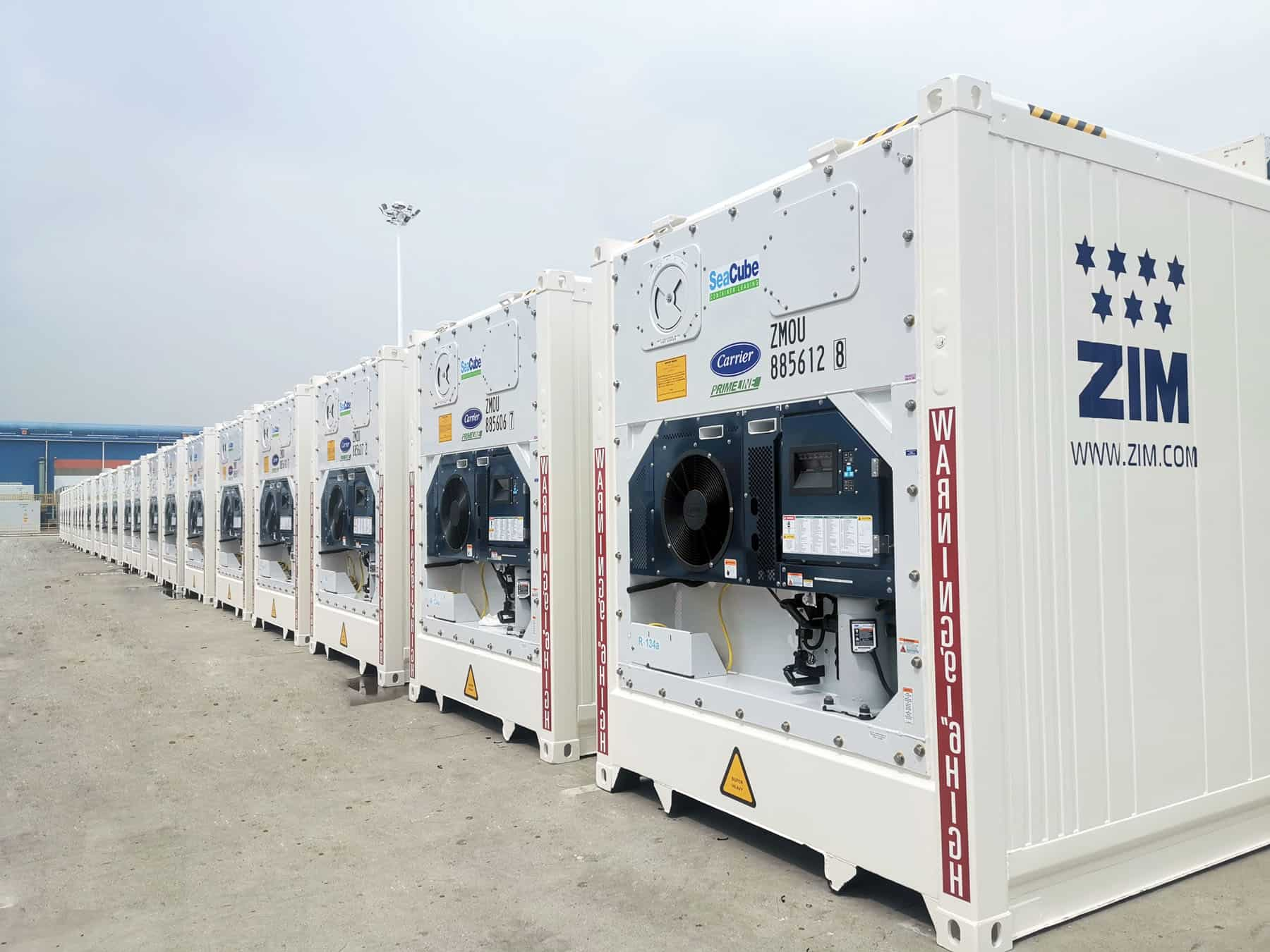 ZIM adds 1,000 Carrier Transicold PrimeLINE units to ship high-value perishable cargo