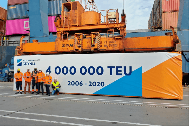 Hutchison Ports Gdynia hits 4m teu milestone