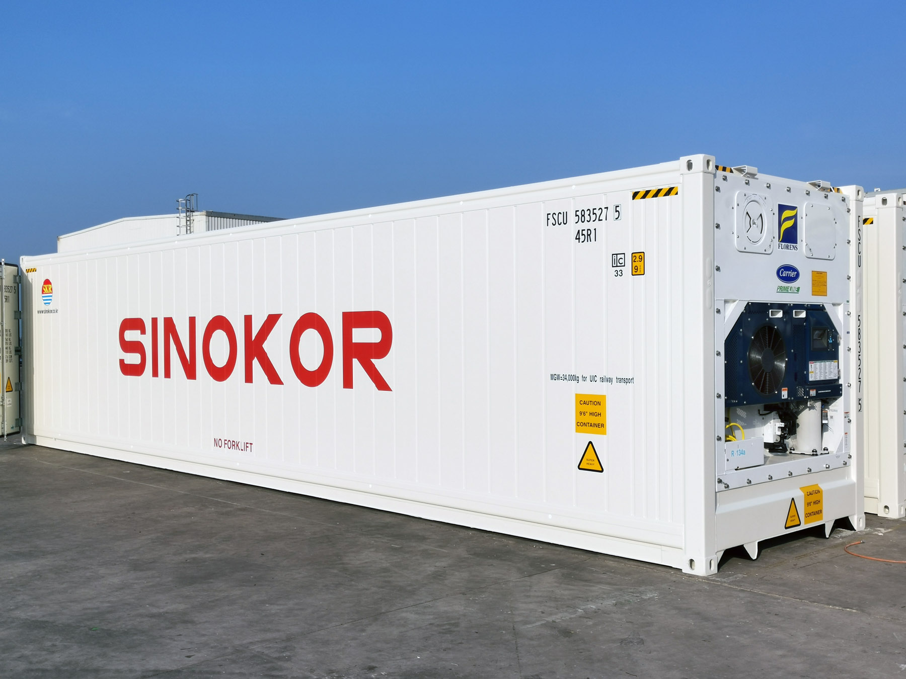 Sinokor adds 1,700 containers refrigerated by PrimeLINE units