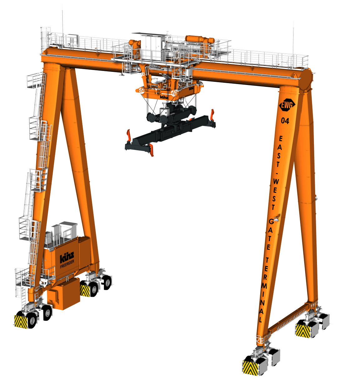 Kuenz to install 5G-controlled intermodal cranes at new EWG terminal in Hungary