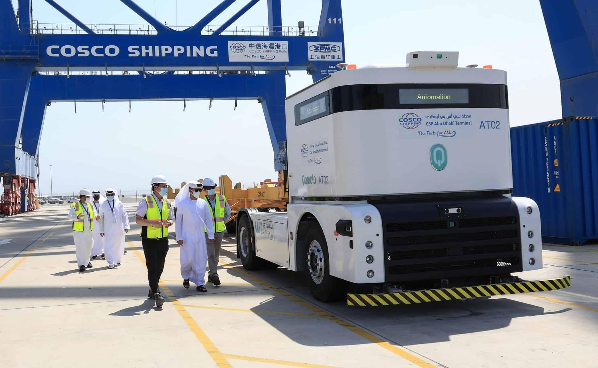 CSP Abu Dhabi Terminal implements autonomous port truck system