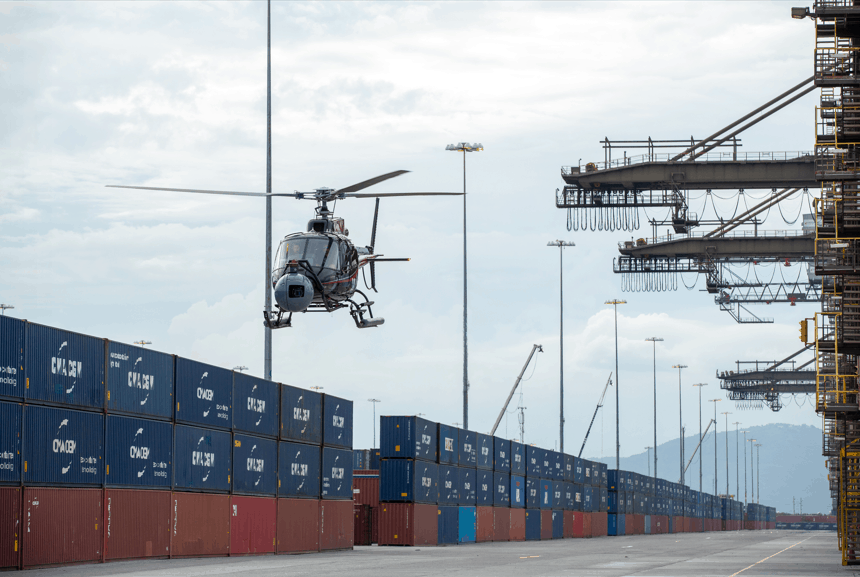 CMA CGM Kingston Container Terminal used in filming for 25th James Bond film